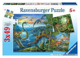 Ravensburger Dinosaur Fascination 3x49 pcs