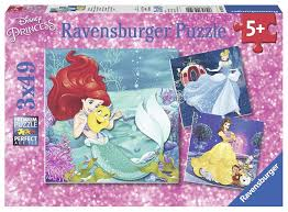 Ravensburger Princesses Adventure 3x49 pcs