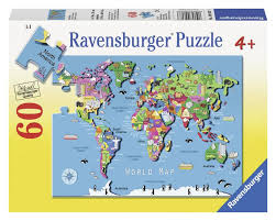Ravenburger World Map 60 pcs