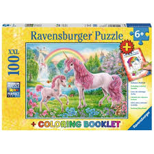 Ravensburger Magical Unicorns 100pc + Colouring Booklet