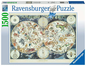 Ravensburger World Map of Fantastic Beasts 1500 pc