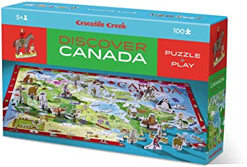Crocodile Creek Discover Learn & Play Canada 100 pc