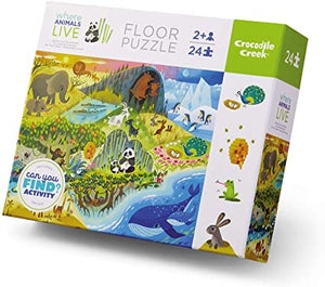 Crocodile Creek Early Learning Where Animals Live 24pc
