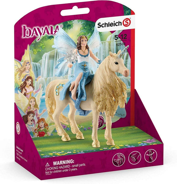 Schleich Bayala Eyela riding Golden Unicorn