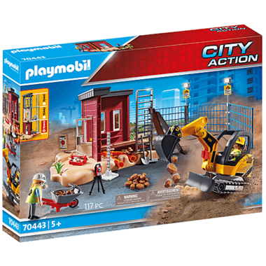 Mini Excavator with Building Section 70443