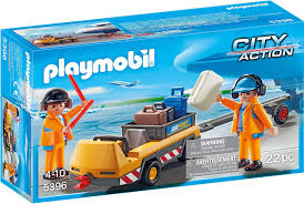 Playmobil Aircraft Tug with Ground Crew (5396)