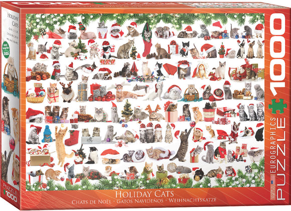 Eurographics Holiday Cats 1000 pc