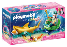 Playmobil Magic King of the Sea with Shark Carriage (70097)