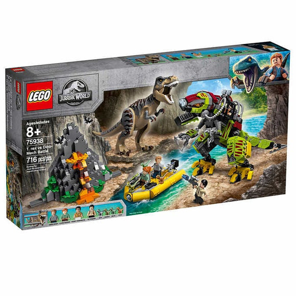Lego T-Rex Vs Dino Mech Battle 75938