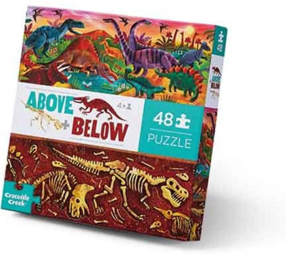 Crocodile Creek Above & Below Dinosaur World 48pc