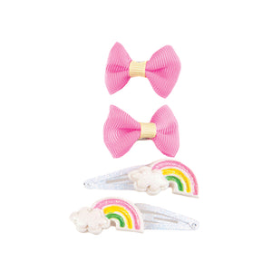 Great Pretenders Snap Happy Rainbow Clips