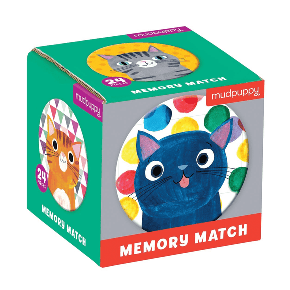 Mudpuppy Cats Memory Match