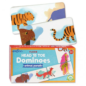 Eeboo Animal Parade Head to Toe Floor Dominoes
