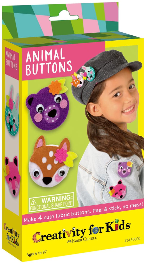 Creativity for Kids Animal Buttons