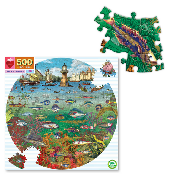 Eeboo Fish & Boats 500 pc