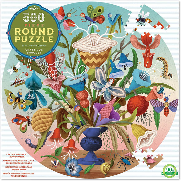 Eeboo Crazy Bug Bouquet 500 pc