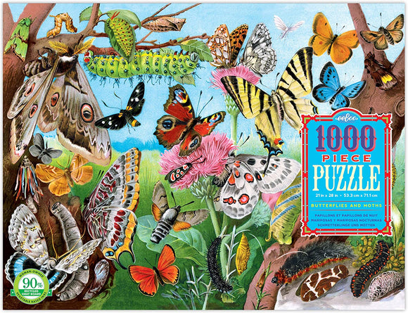 Eeboo Butterflies and Moths puzzle 1000 pc