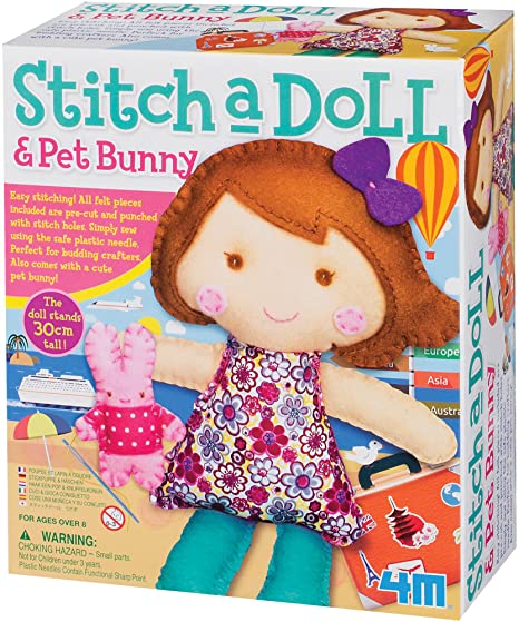 4M Stitch a Doll and Pet Bunny