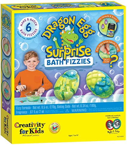 Creativity for Kids Dragon Egg Surprise Bath Fizzies