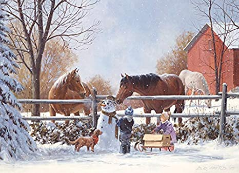 Cobble Hill Frosty's Friends Family puzzle 350 pc
