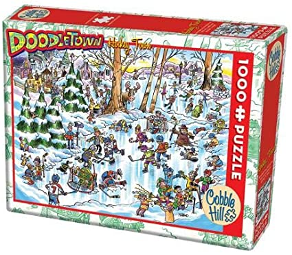 Cobble Hill DoodleTown Hockey Town 1000 pc
