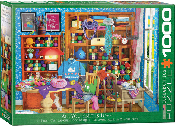 Eurographics All You Knit is Love 1000 pc