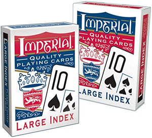 Imperial large Index Poker Playing Cards