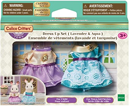 Calico Critters Dress Up Set Lavender & Aqua