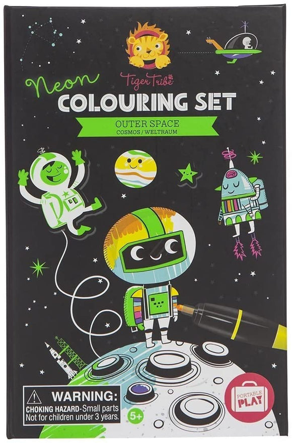 Outer Space Neon Colouring Set