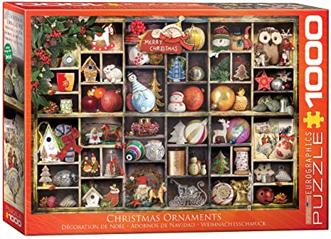 Eurographics Christmas Ornaments 1000 pc