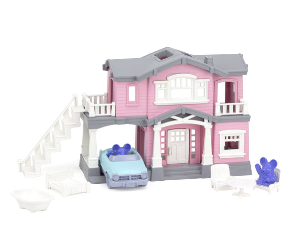 Green Toys House Playset (Pink)