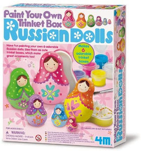 4M Paint Your Own Russian Dolls