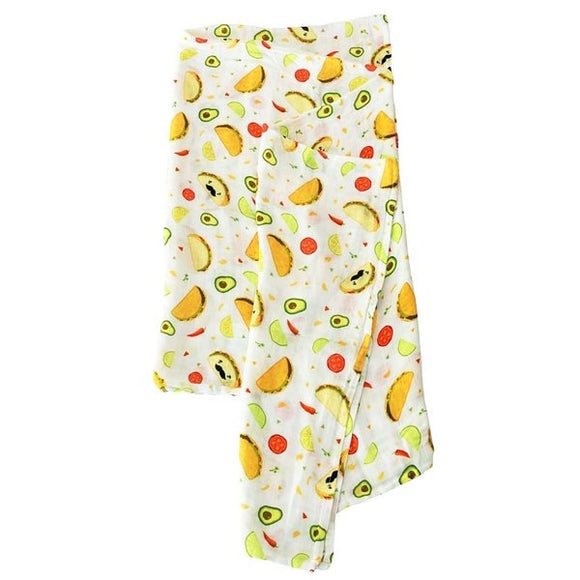 Loulou Lollipop Taco Muslin Swaddle