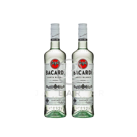 Double Bacardi Carta Blanca 700ml x2