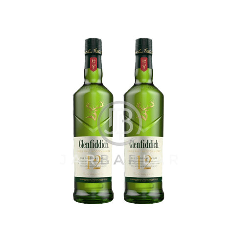 Double Glenfiddich 12 Years 700ml x2
