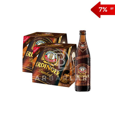 Double Erdinger Dunkel Bottle 24x500ml-Beer-jarbarlar-alcohol_delivery-wine_and_spirit_jarbarlar