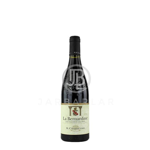 M.chapoutier Chateauneuf-du-Pape La Bernardine 750ml-France-jarbarlar-alcohol_delivery-wine_and_spirit_jarbarlar