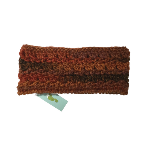 Tangled Robin Textured Ear Warmer-Headband Pure Wool