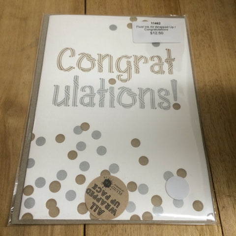 Fluid Ink -Congratulations Card Gift Pack