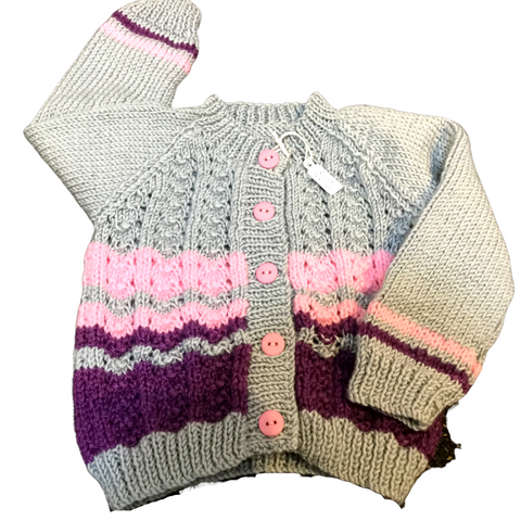 Jarvis Knit Lace Front Cardigan 12mths +