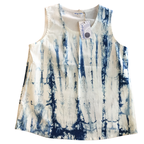 indi-go-round Shibori Sleeveless Top