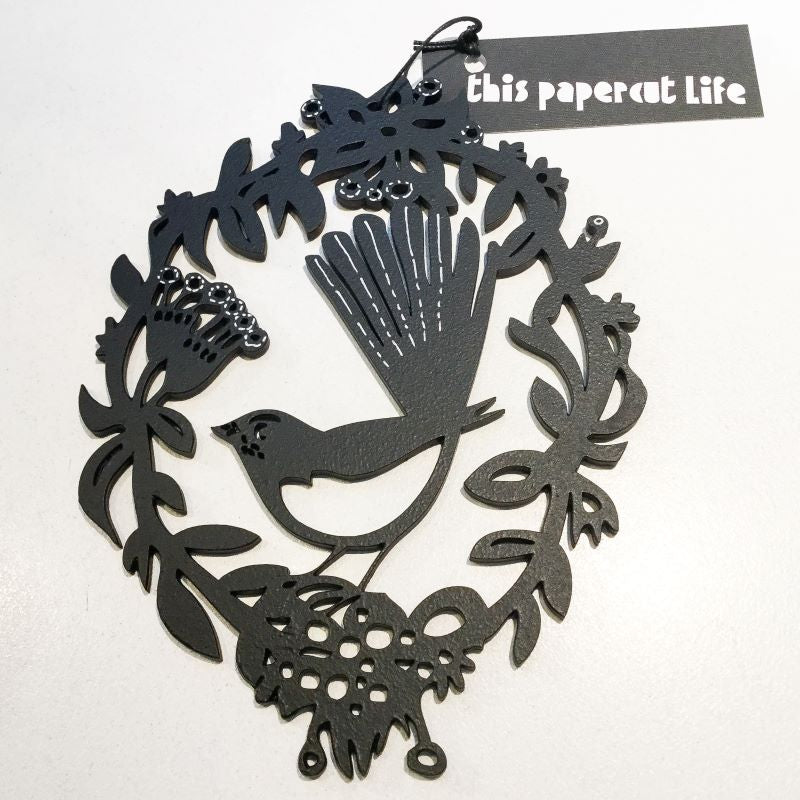 This Papercut Life  Woodcut - Willy Wagtail