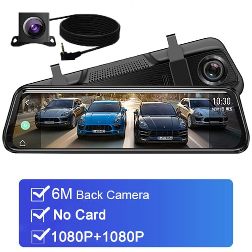 10'' car rearview mirror auto recorder 1080P FHD