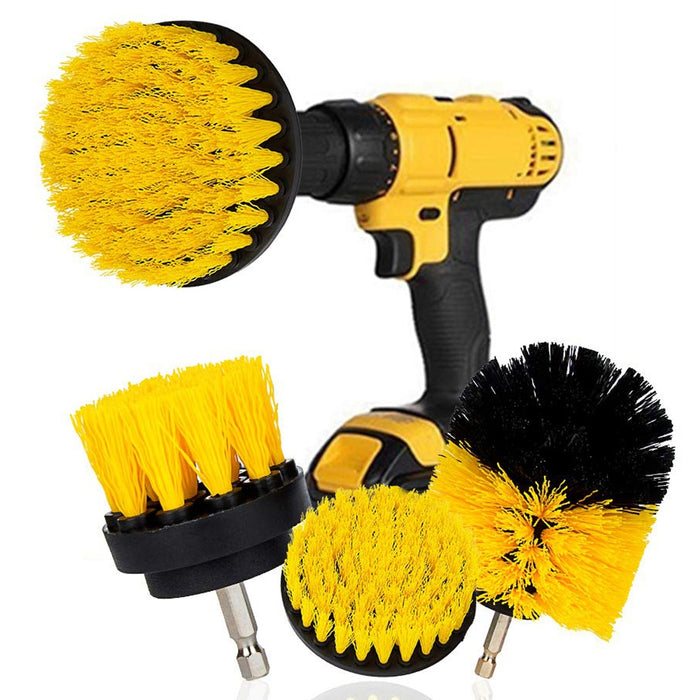 3Pcs/Set Electric Scrubber Brush Drill Brush Kit