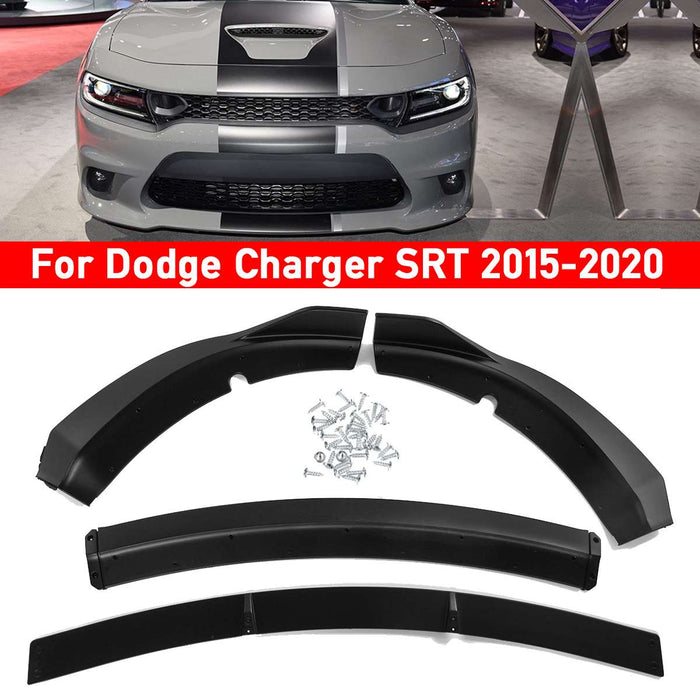 4pcs Car Front Bumper Lower Lip Protector For Dodge Charger SRT Track Style 2015-2020