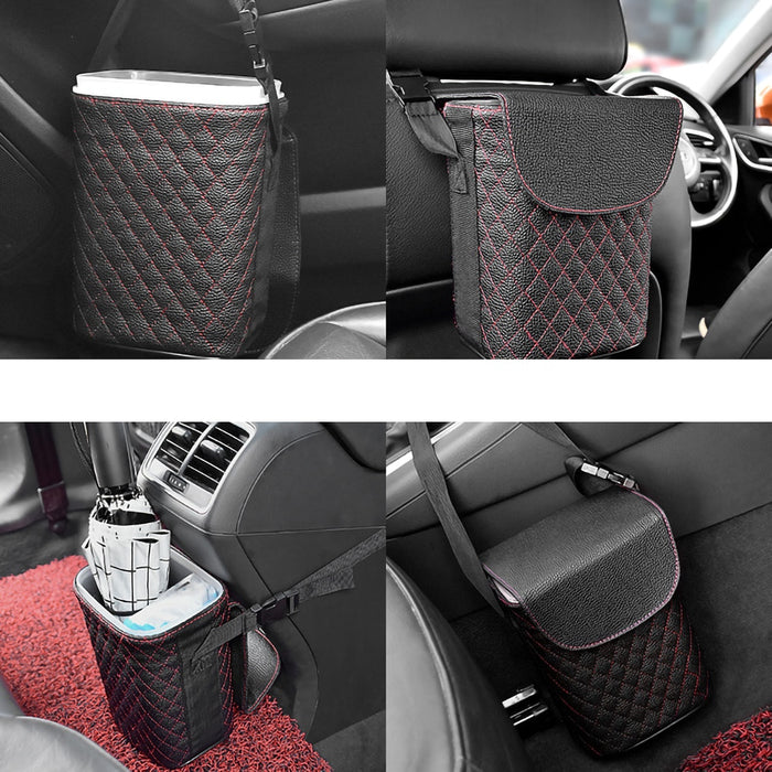Multifunctional Car Storage Box Double-layer design Mini Hanging Trash Case