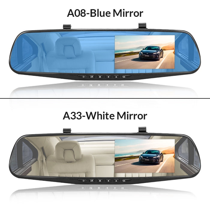 4.3 Inch Camera Full HD 1080P Automatic Camera Rear View Mirror With DVR And Camera Recorder