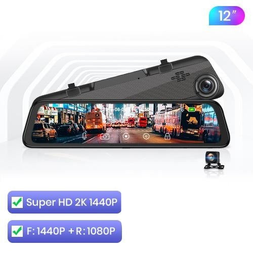 Android 12 in 1 DashCam Car DVR Mirror Camera 4G WIFI GPS Bluetooth Full HD 1080P Video Recorder