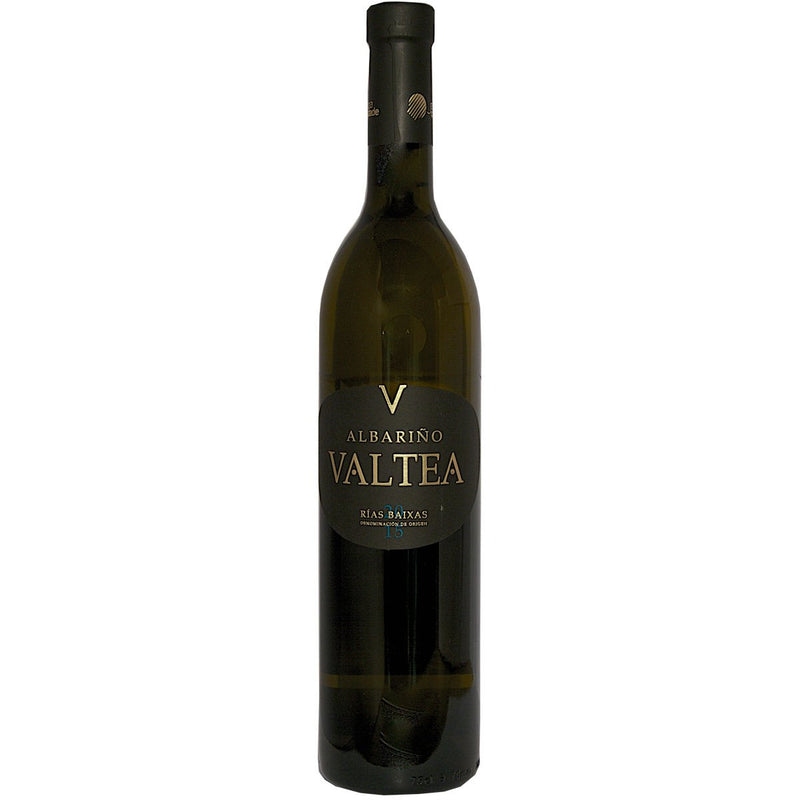 Bottle of Valtea Rias Baixas Albarino 2016 white wine