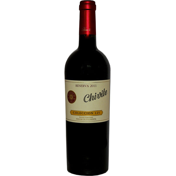 Bottle of Chivite Colección 125 Reserva Tempranillo 2011 red wine